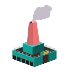 Colorful silhouette of industry with fireplace vector