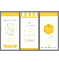 Daily menu design template vector image