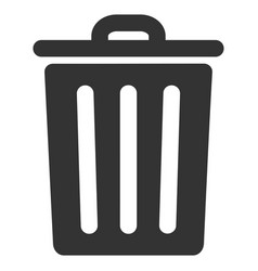 dustbin flat icon vector image