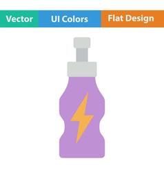 Flat design icon of energy drinks bottle vector