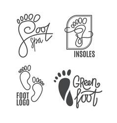 foot silhouette health center logo orthopedic vector image vector image