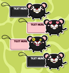 Four cute cartoon Panthers stickers vector image