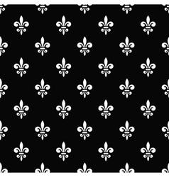 Golden fleur-de-lis seamless pattern black 7 vector