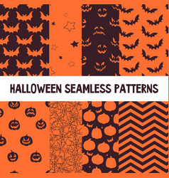 halloween orange and black jumbo polka dot vector image