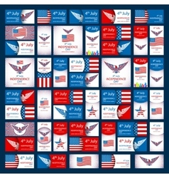 Happy USA Independence Day - Fourth of July - July vector image