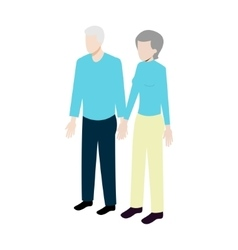 Isometric old couple vector image