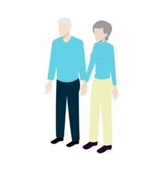 Isometric old couple vector