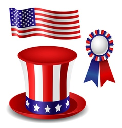 Patriotic item set vector image vector image