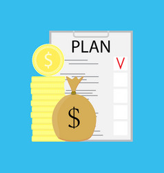 Plan checklist growth money vector