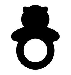 Rattle black color icon vector