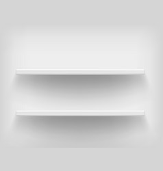 realistic white shelves vector image