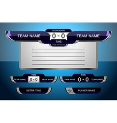 Scoreboard game football vector