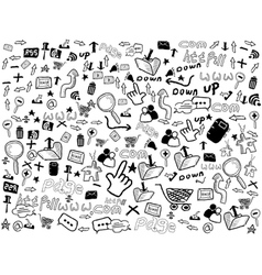 seamless doodle web pattern vector image vector image