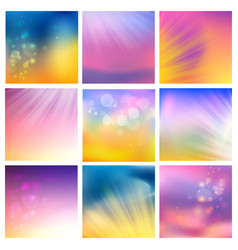 Set of abstract blotted tiles vector