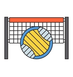 Sport team volleyball badge vector