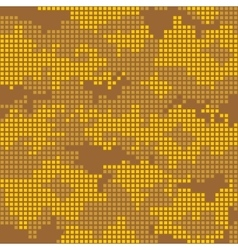 Urban camo pattern - yellow pixels vector image vector image