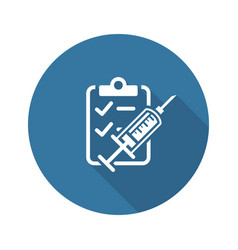 vaccination and medical services icon flat design vector image vector image