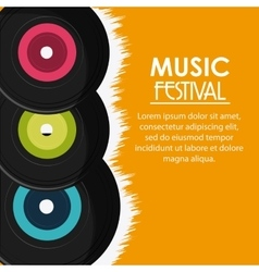 Vinyl music sound media festival icon vector
