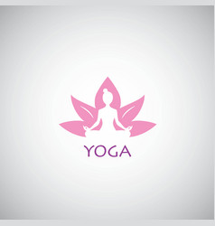 yoga logo lotus concept vector image vector image