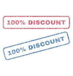 100 percent discount textile stamps vector