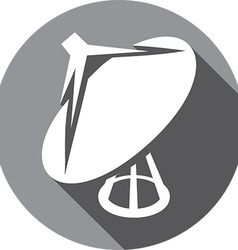 Satelite icon vector