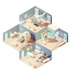Isometric hospital concept vector