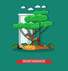 Heart massage in flat style vector
