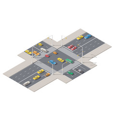 Infographics represented a crossroads controlled vector