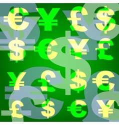 Background business monetary symbols vector
