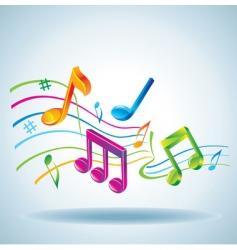 3d tunes vector image