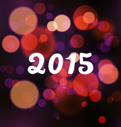 Happy 2015 new year on blurred background vector