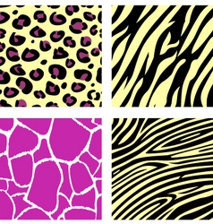 Animal print pattern vector