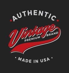 Authentic vintage premium brand apparel design vector