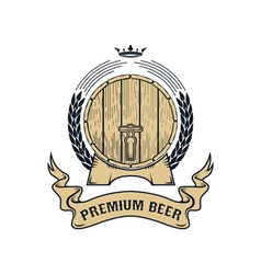 Premium beer label vector