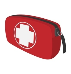 First aid kit cartoon icon vector