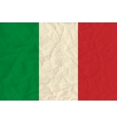 Italy paper flag vector