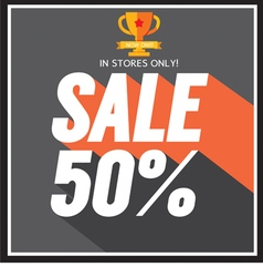 Sale up to 50 percent vector