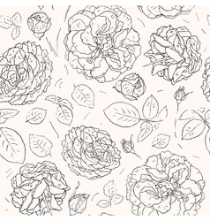 Flowers background seamless pattern vector