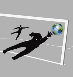 Business man soccer concept vector
