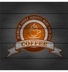 Coffee logo emblem retro design template vector image vector image