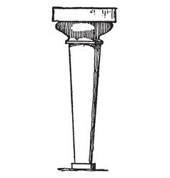 Column at knossos tapered downward vintage vector