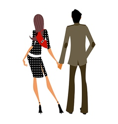 Couple holding hand together vector image