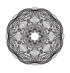 Crazy mandala template for coloring book vector