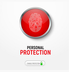design of a white banner with a red button with a vector image vector image