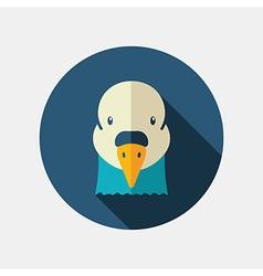 Dove flat icon animal head symbol vector