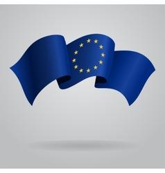 European union waving flag vector
