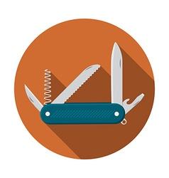 Flat design modern of multifunctional pocket knife vector