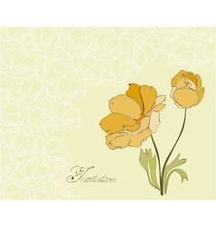floral invitation postcard vector image vector image