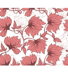 flower pattern back red vector image