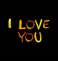 Golden inscription i love you vector image vector image